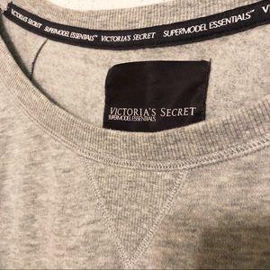 Victoria's Secret Tops - VS Supermodel Essentials Gray Sweatshirt Crewneck